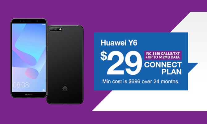 Huawei Y6 - Connect $29
